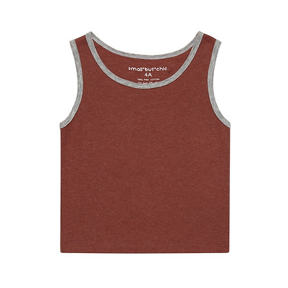 Everyday Tank Top(Red/Grey)