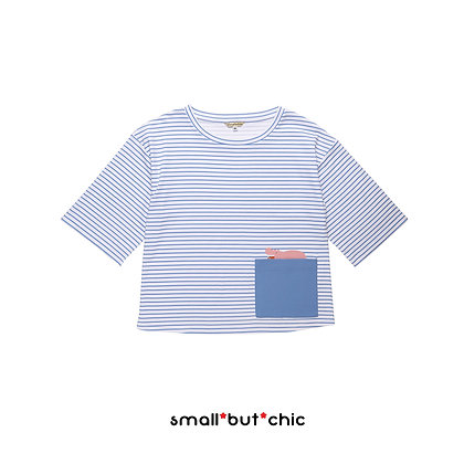 Mae Mali striped wild wide tee