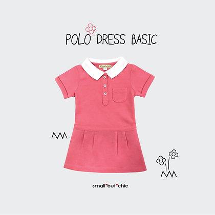 Polo dress (Orange/White)