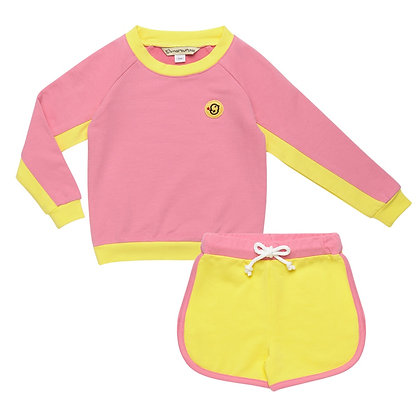 Set of Jumper and shorts(Pink)