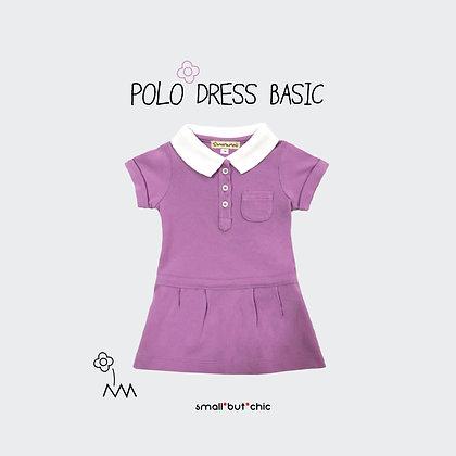 Polo dress (Violet/White)