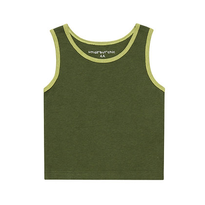 Everyday Tank Top(Dark green/green)