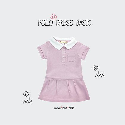 Polo dress (Pink/White)