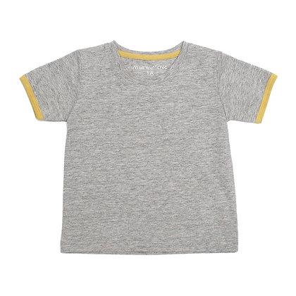 Everyday Tee (Light grey/yellow)