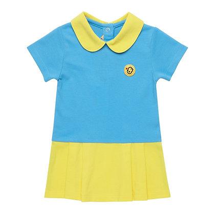Polo dress (Blue/Yellow)