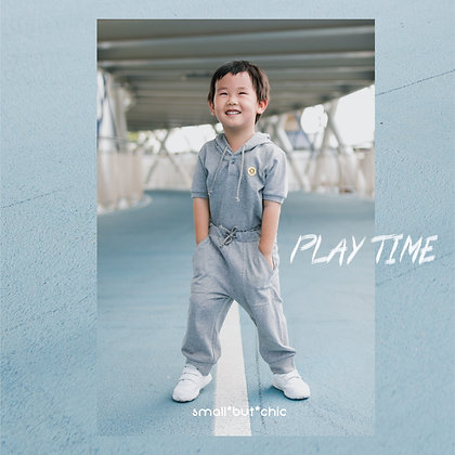 Play Time Hoodie Set(Light Grey)