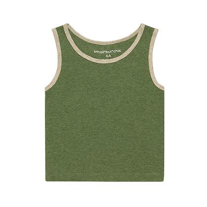 Everyday Tank Top(Green/Beige)
