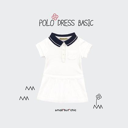 Polo dress (White/Navy)