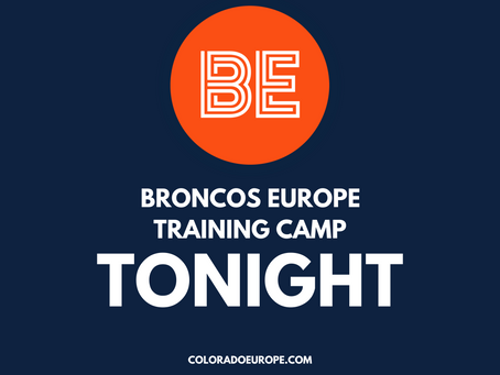 Broncos Training Camp Tonight: Tuesday with Aric DiLalla