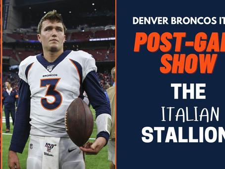 The Italian Stallions Post-Game: Broncos - Patriots