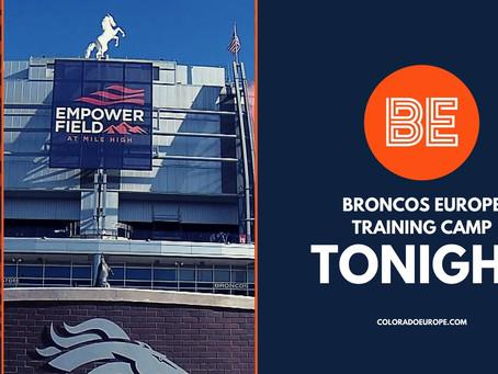 Broncos announce no fans in stadium Week 1: Broncos Europe Training Camp Tonight