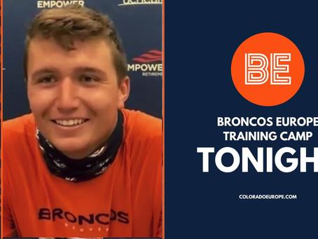 Ryan Edwards speaks to Broncos Europe Training Camp Tonight