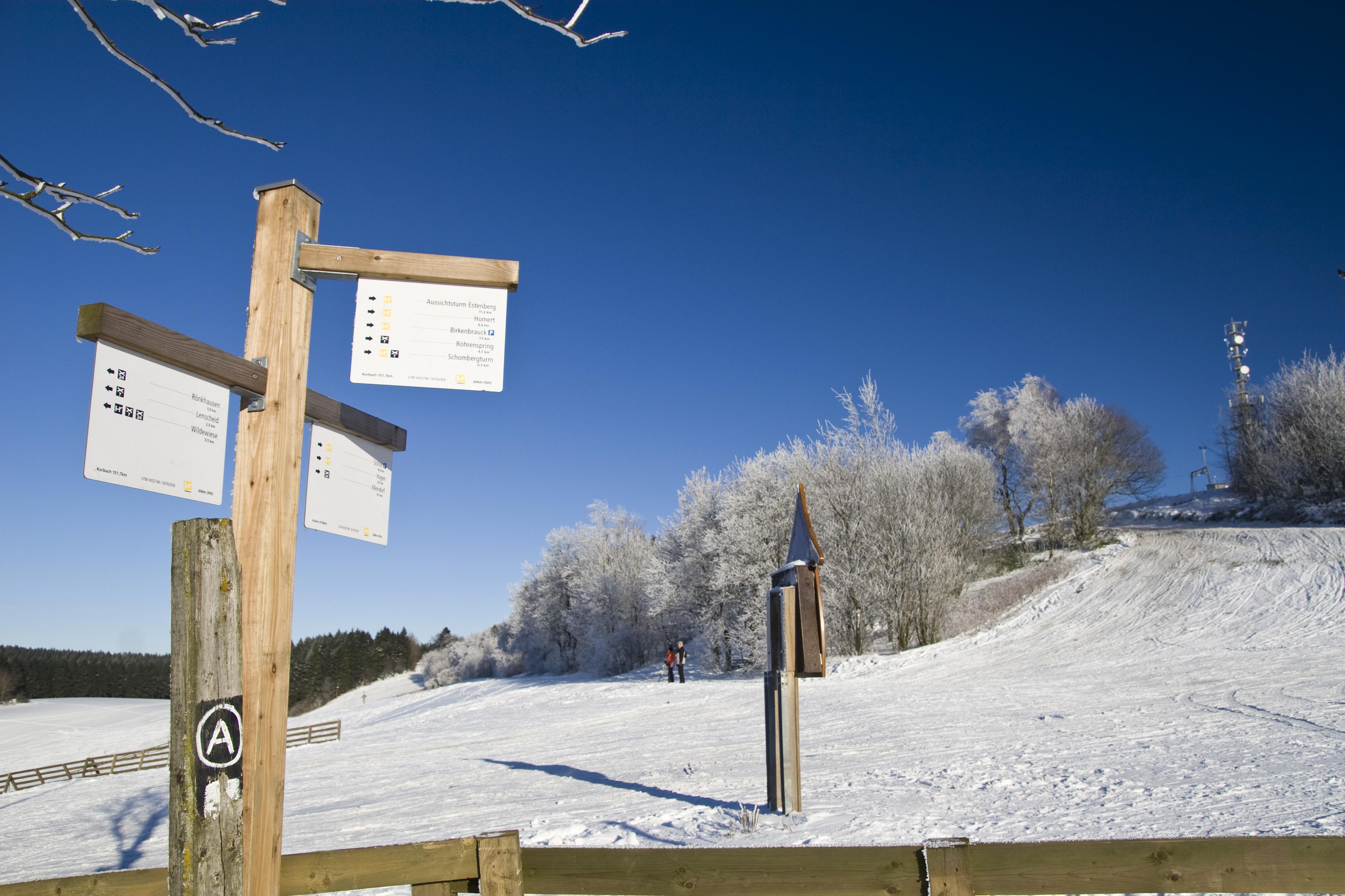 Winterwandern-im-Sauerland-Wegweiser