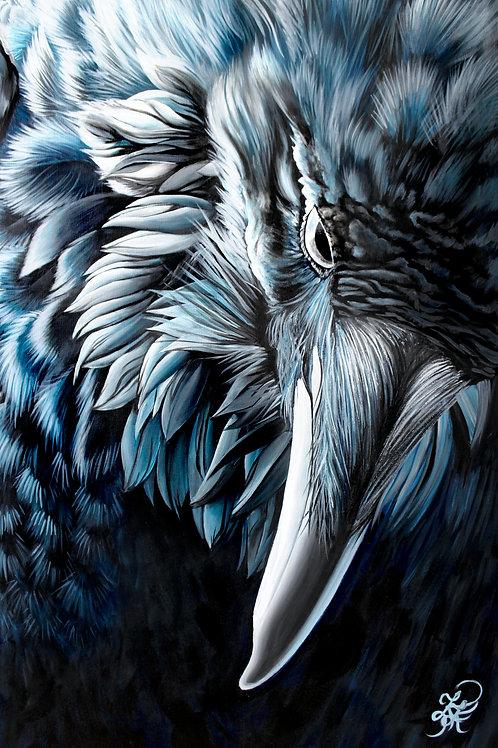 Raven Painting - Print