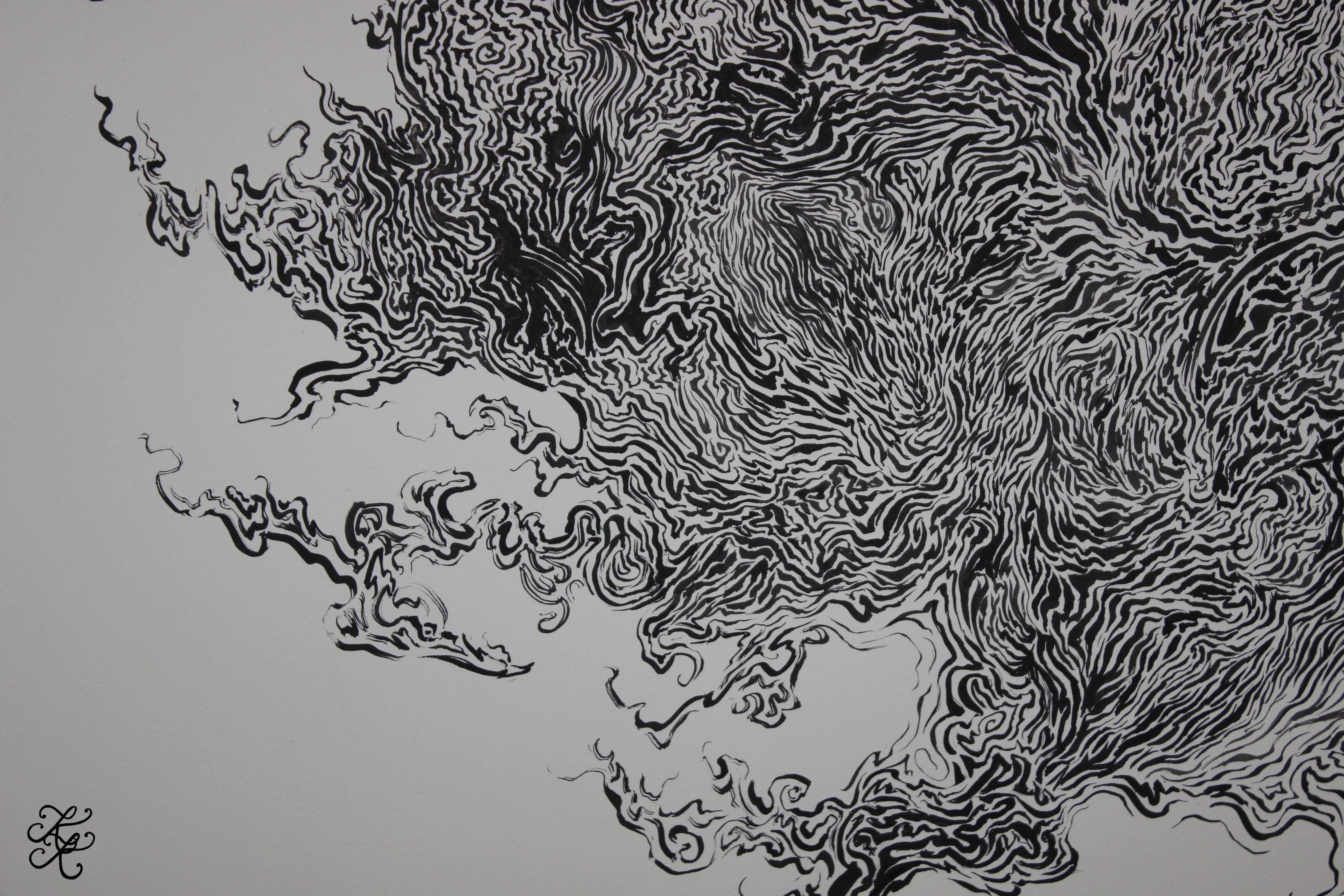 Ink Painting (Close-Up #2) ~ Signature