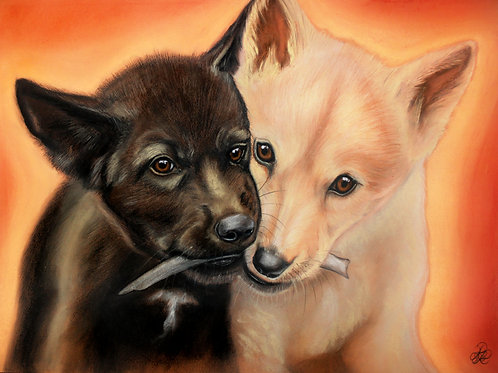 Wolf - Print (Sharing Siblings)