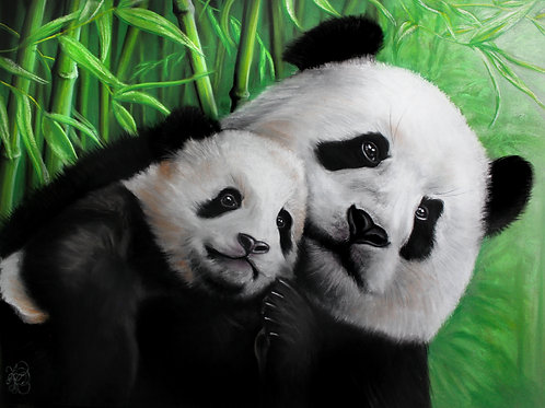 Panda Mom & Baby - Print