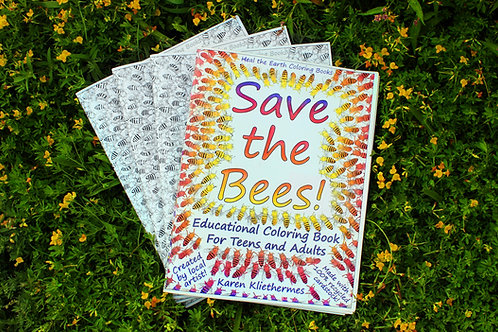"""Save The Bees!"" Coloring Book"