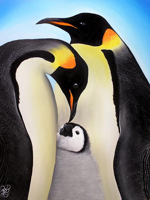 Emperor Penguins - Print