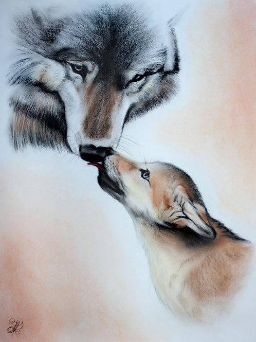 Wolf - Print (Familial Love)