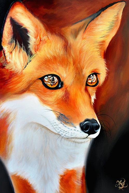 Fox Painting - Print