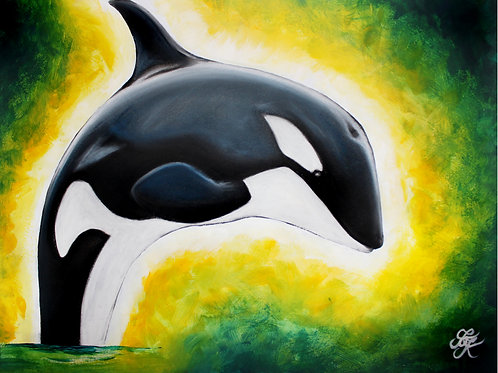 Orca Painting - Print