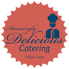 Amazingly Delicious Catering blue with r