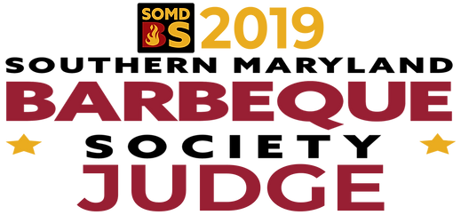 SoMD BS Judge Logo wide. Southern Maryland Barbeque Society. CP Local Events. SoMD Pork in the Park