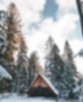 brown-wooden-house-in-the-middle-of-snow