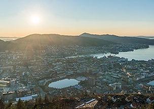 bergenvue_soleil_mont_fløyen_panorama