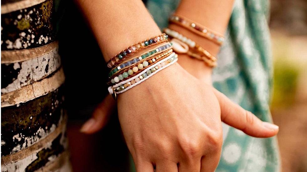 Lotus and Luna bracelet