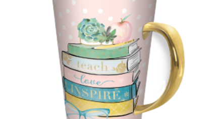 Teach Love Inspire Travel Mug with Lid