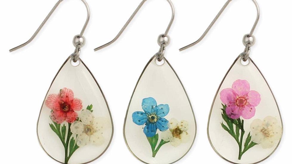 Real pressed flower earrings