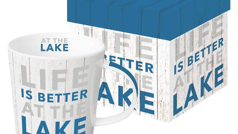Life is Better at the Lake mug in giftbox