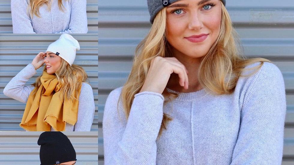 Cashmere blend hat