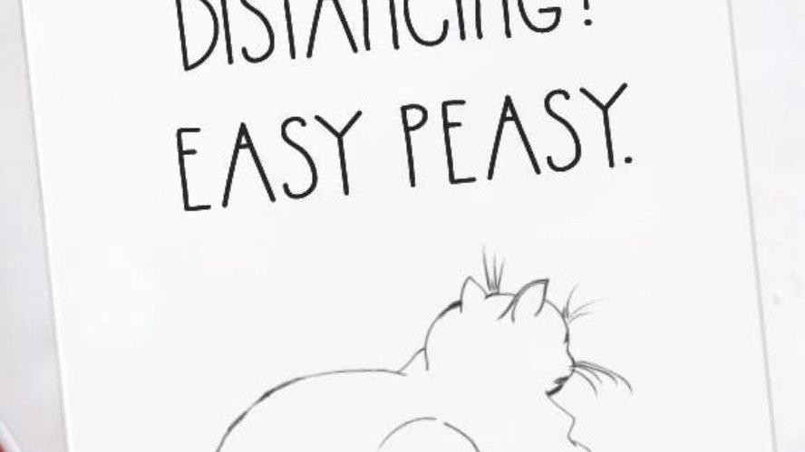 Social Distancing Easy Peasy Card