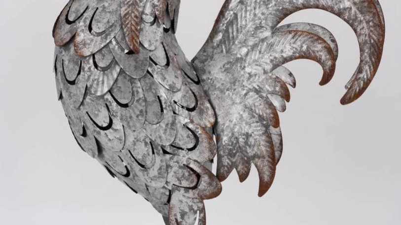 Galvanized Rooster
