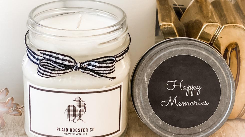 Plaid Rooster Co Candle - 8oz mason jar