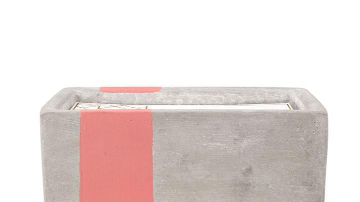 urban concrete salted grapefruit candle