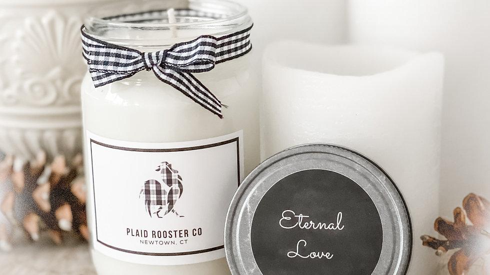 Plaid Rooster Co Eternal Love Candle - 12oz mason jar