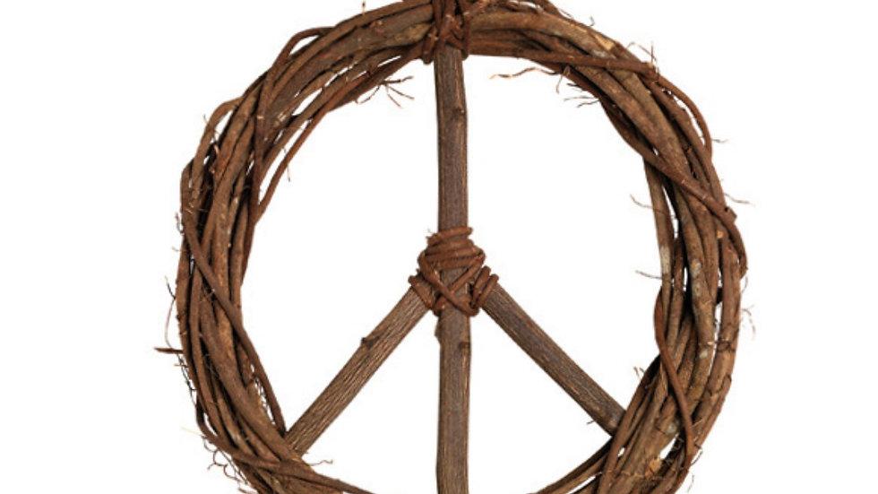 Peace twig wreath