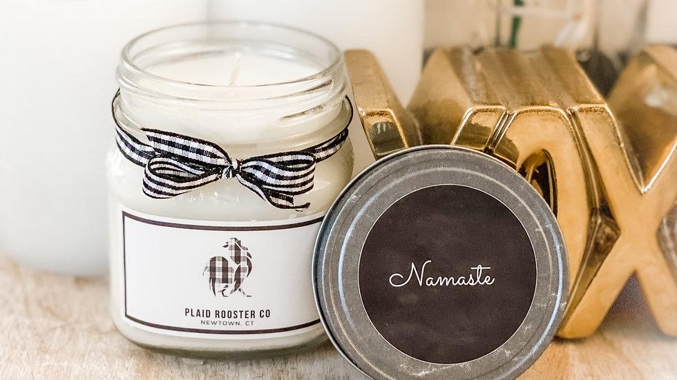 Plaid Rooster Co Namaste Candle - 8oz mason jar