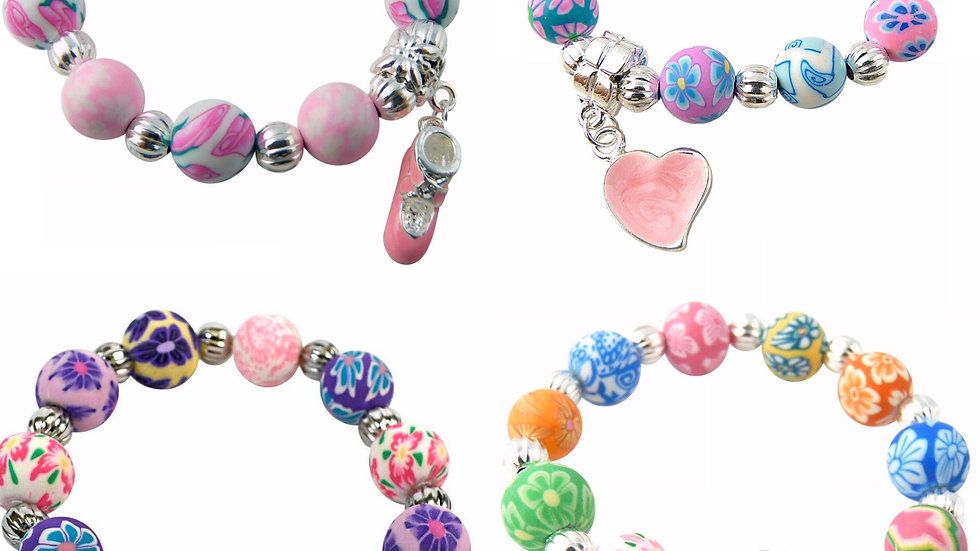 Girls clay bead bracelet
