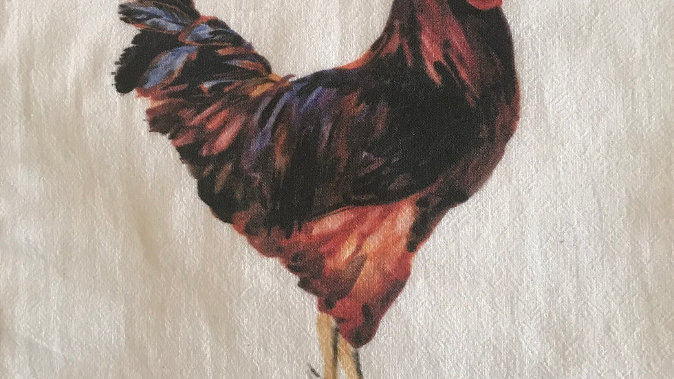 Rooster Newtown dishtowel