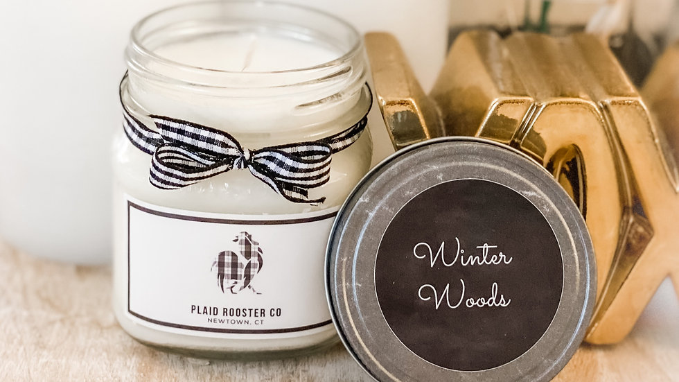 Plaid Rooster Co Winter Woods Candle - 8oz mason jar