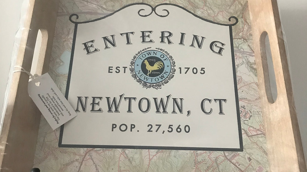 Entering Newtown Serving Tray