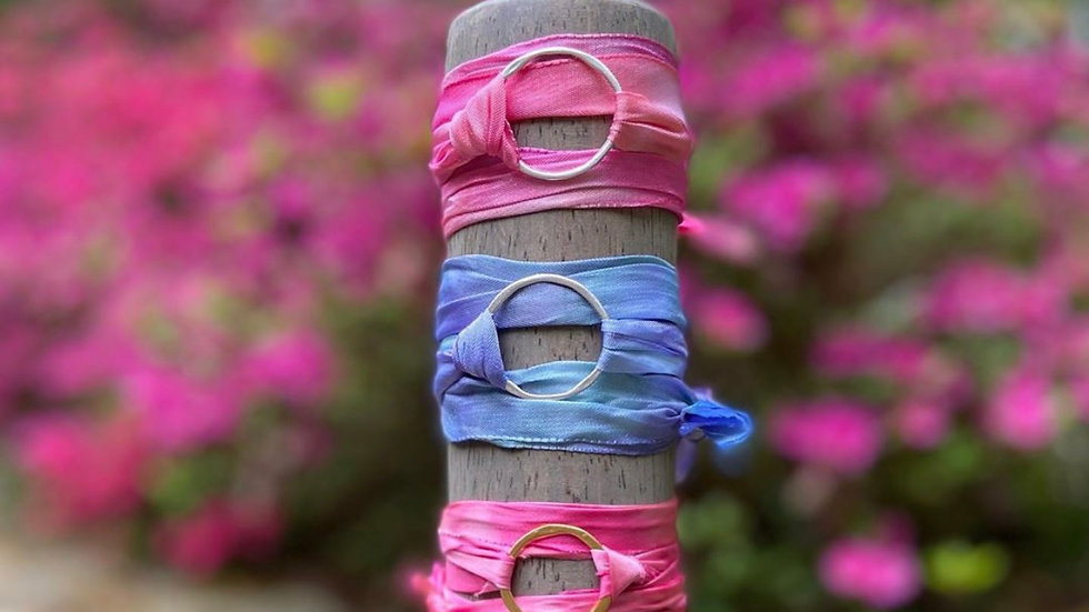 BFF silk wrap bracelet