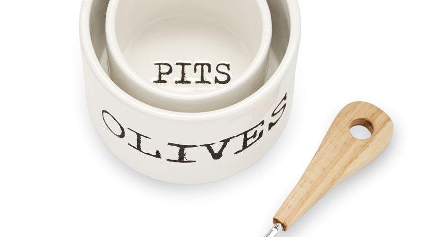 Olives serving set