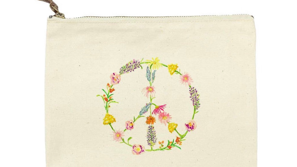 Peace cosmetic bag