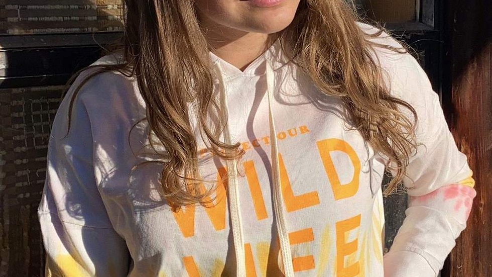 Ivory Ella Relaxed fit Wild Life Hoodie